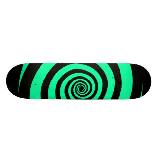 Black and Mint Carnival Vortex Skateboard Deck