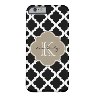 Black and Mocha Float Moroccan Quatrefoil Print Barely There iPhone 6 Case