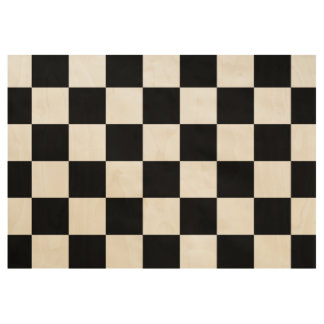 Black and Natural Wood Checkered Poster Wood Poster