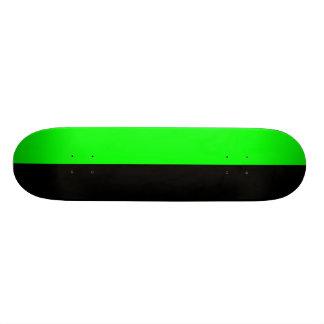 Black and Neon Green Split Color Skateboard