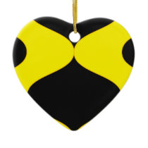 Black and Nu Gold Smooch Ceramic Ornament