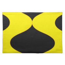 Black and Nu Gold Smooch Cloth Placemat