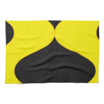 Black and Nu Gold Smooch Kitchen Towel