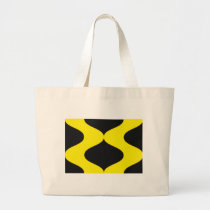 Black and Nu Gold Smooch Large Tote Bag