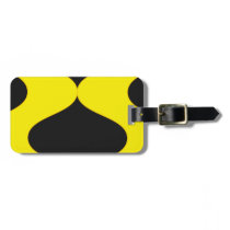 Black and Nu Gold Smooch Luggage Tag