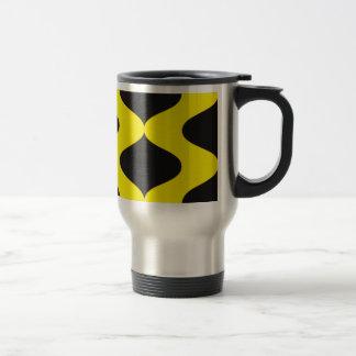 Black and Nu Gold Smooch Travel Mug