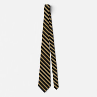 Black and Old Gold University Stripe Tie