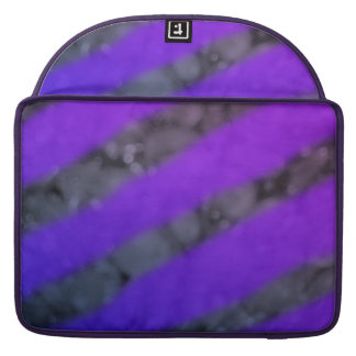 Black and Ombré Purple Stripes Electronic Sleeves Sleeve For MacBook Pro