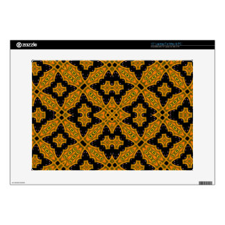 Black and orange Abstract Pattern Decal For Laptop