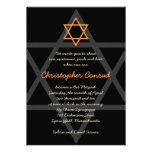 Black and Orange Bar Mitzvah Invitation