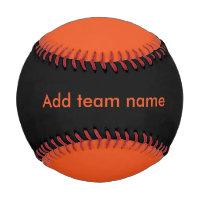 Black and Orange Baseball