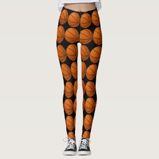 Black and Orange Basketball Leggings