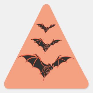 Black and Orange Bat Triangle Sticker