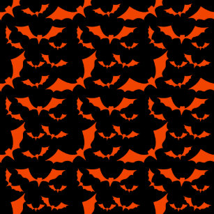 black and orange bats halloween pattern doormat