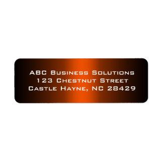 Black and Orange Business Return Address Sticker Label