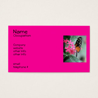 Black and Orange Butterfly Business Card