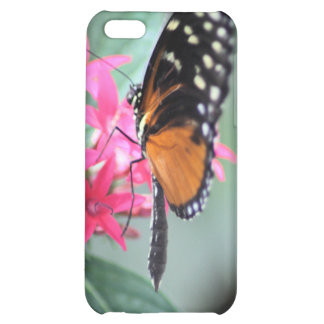 Black and Orange Butterfly Cover For iPhone 5C