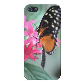 Black and Orange Butterfly iPhone 5 Cases