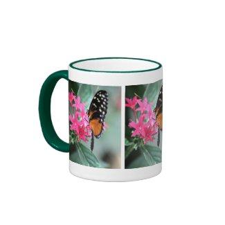 Black and Orange Butterfly With White Spots Mug mug