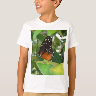 Black and Orange Butterfly with White Spots T-Shirt