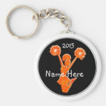 Black and Orange Cheap Cheer Keychains, YEAR, NAME Keychain