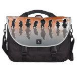 Black and Orange Commuter Bag