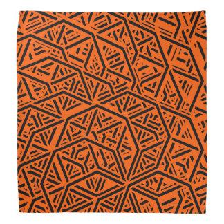 Black and Orange Geometric Abstract Pattern Bandana