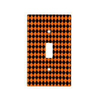 Black And Orange Halloween Diamond Rows Switch Plate Covers