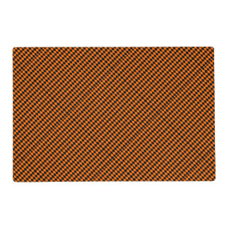 Black And Orange Halloween Diamond Rows Laminated Place Mat