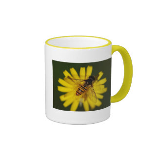 Black and orange hover fly coffee mugs