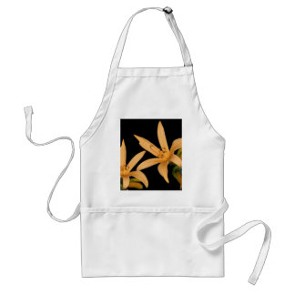 Black and Orange Lilly Adult Apron