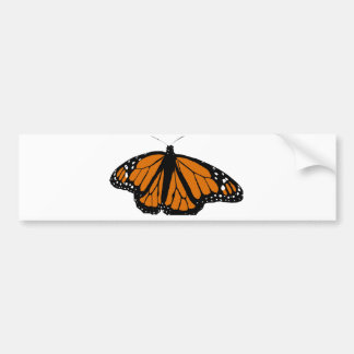 Black and Orange Monarch Butterfly Bumper Sticker