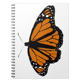 Black and Orange Monarch Butterfly Spiral Notebook