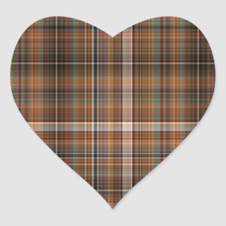 Black and Orange Plaid Sticker