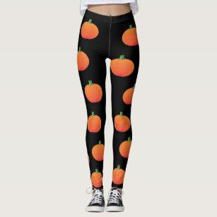Pumpkin halloween leggings Orange and purple unisex trouser bottoms