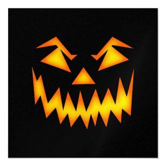 Black and Orange Scary Pumpkin Halloween Card