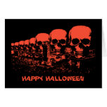 Black and Orange Skulls Halloween Cards
