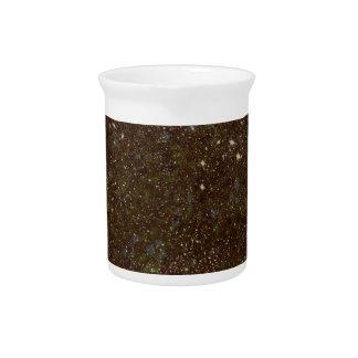 Black and orange sparkles drink pitcher