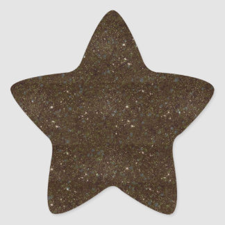 Black and orange sparkles star sticker