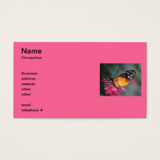 Black and Orange Spotted Butterfly 2 Business Card
