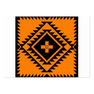 Black and orange squares and triangles business card template