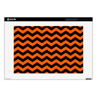 "Black and Orange Zig Zag Pattern Skin For 15"" Laptop"