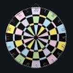 "Black And Pastel Colors Dart Board<br><div class=""desc"">Black And Pastel Colored Dart Board Game Including 6 Brass Darts</div>"