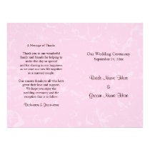 Black and Pastel Pink with Subtle Pattern Wedding Flyer