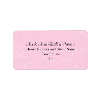 Black and Pastel Pink with Subtle Pattern Wedding Label