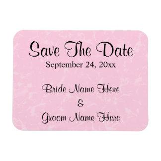 Black and Pastel Pink with Subtle Pattern Wedding Vinyl Magnet