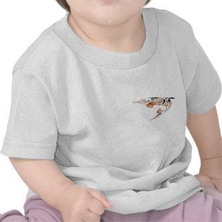 Black and Peach Tribal Dolphin Tattoo Design Tshirt