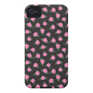 Black and petite pink rose rosebuds roses iPhone iPhone 4 Cover