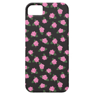 Black and petite pink rose rosebuds roses iPhone iPhone SE/5/5s Case