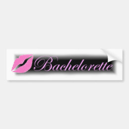 black and pink bachelorette tab bumper sticker